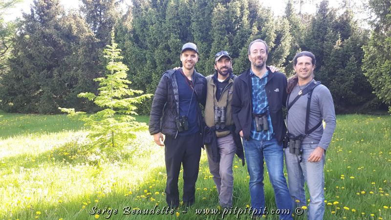 Moi et mon équipe Les Ornitrotteurs (Alain Goulet, Jean-Philippe Gagnon et Émile Brisson-Curadeau) avons terminé notre Grand Défi, la plus importante activité de levée de fonds au Québec pour sauvegarder les oiseaux et leurs habitats.