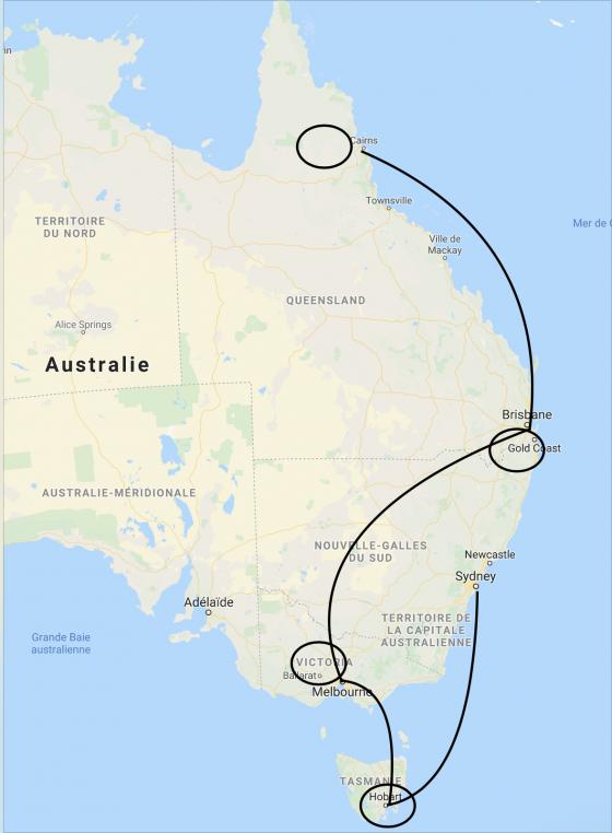 Circuit Australie 2020